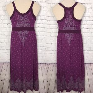 Athleta Racerback Purple Long Dress M